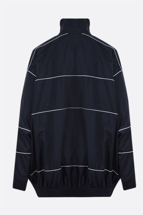 BALENCIAGA: oversize nylon windbreaker Color Blue_2