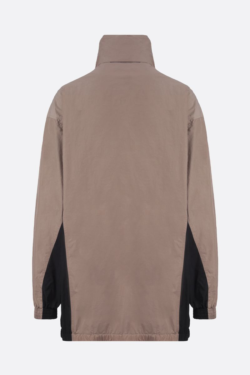 BALENCIAGA: colour-block nylon oversize windbreaker_2