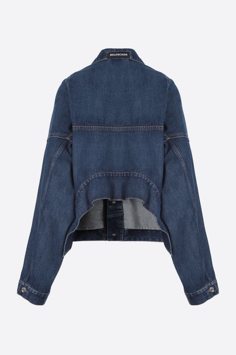 BALENCIAGA: Upside Down denim oversize jacket_2