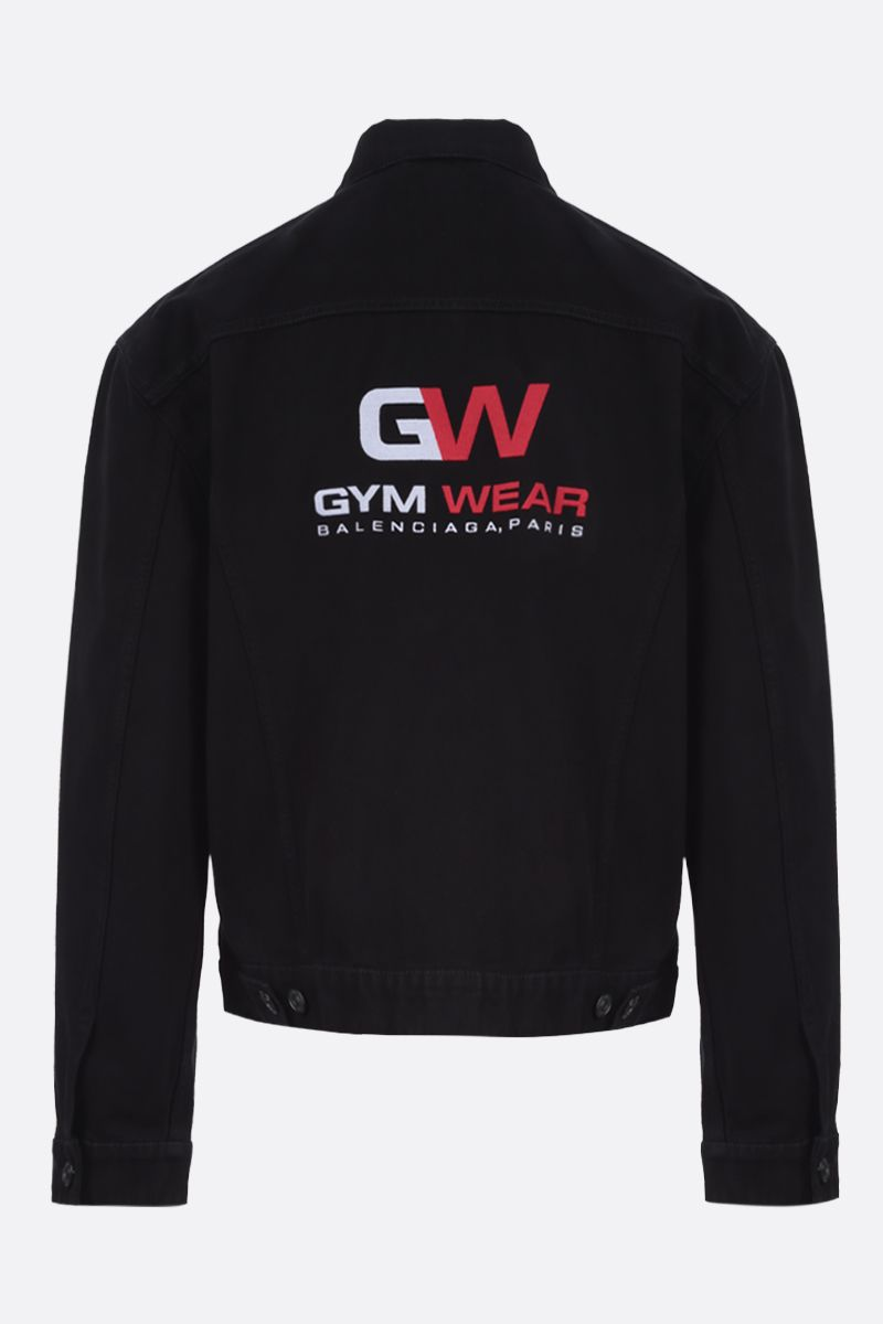 BALENCIAGA: Gym Wear denim oversize jacket_2