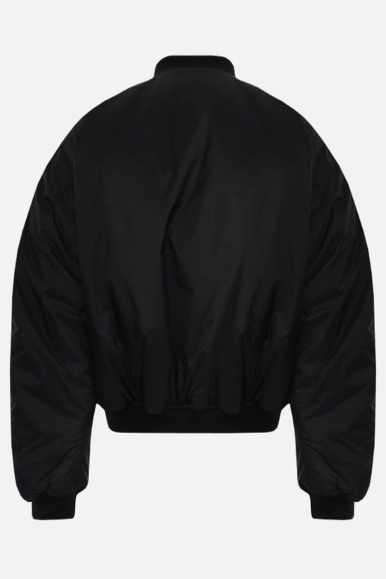 BALENCIAGA: nylon padded bomber jacket Color Black_2