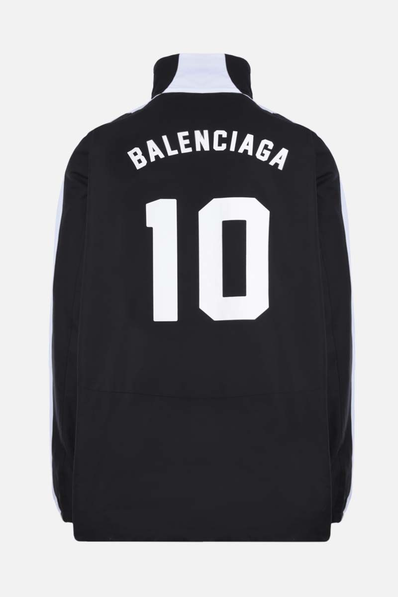 BALENCIAGA: Soccer print oversize cotton full-zip jacket Color Black_2