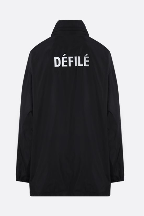 BALENCIAGA: Dèfilè print nylon oversize windbreaker Color Black_2