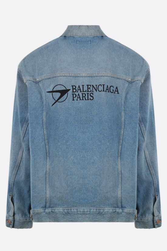 BALENCIAGA: Balenciaga Paris oversize denim jacket Color Blue_2