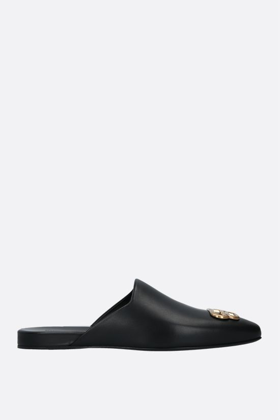 BALENCIAGA: Cosy BB smooth leather mules Color Black_1