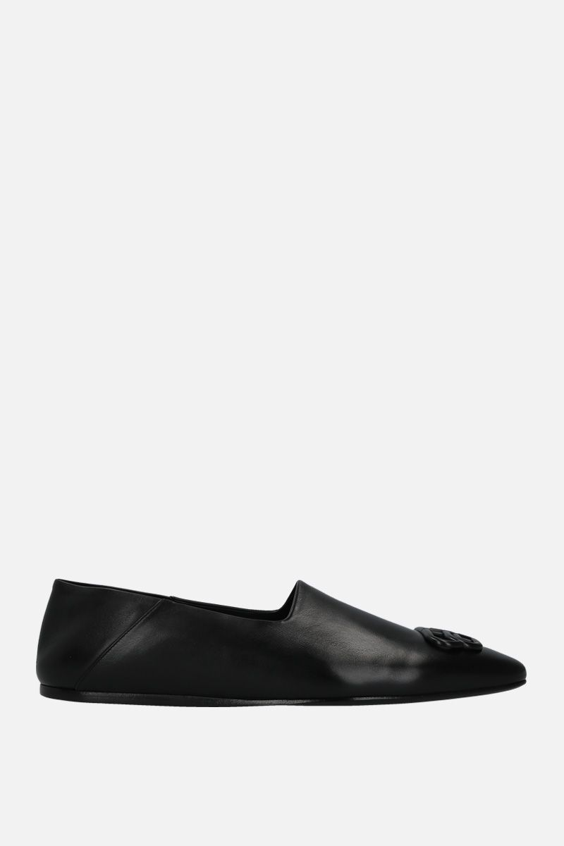 BALENCIAGA: slipper Cosy BB in pelle lucida Colore Nero_1