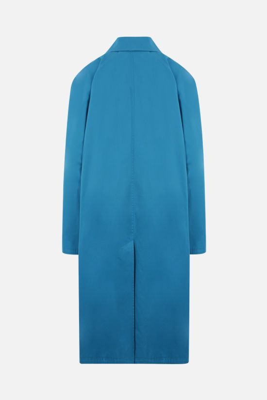 BALENCIAGA: oversize cotton overcoat Color Blue_2