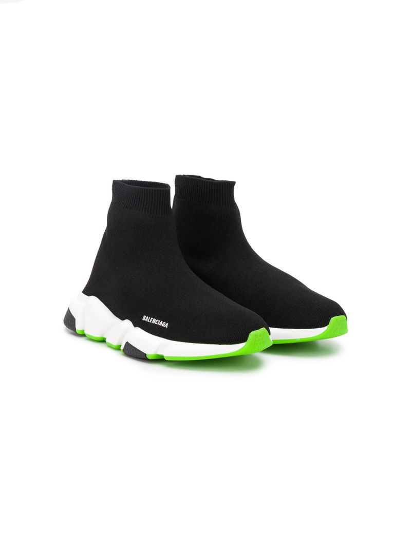 BALENCIAGA KIDS: Speed stretch knit sneakers_1