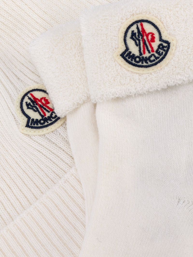 MONCLER KIDS: cotton wool blend beanie and socks Color Multicolor_2