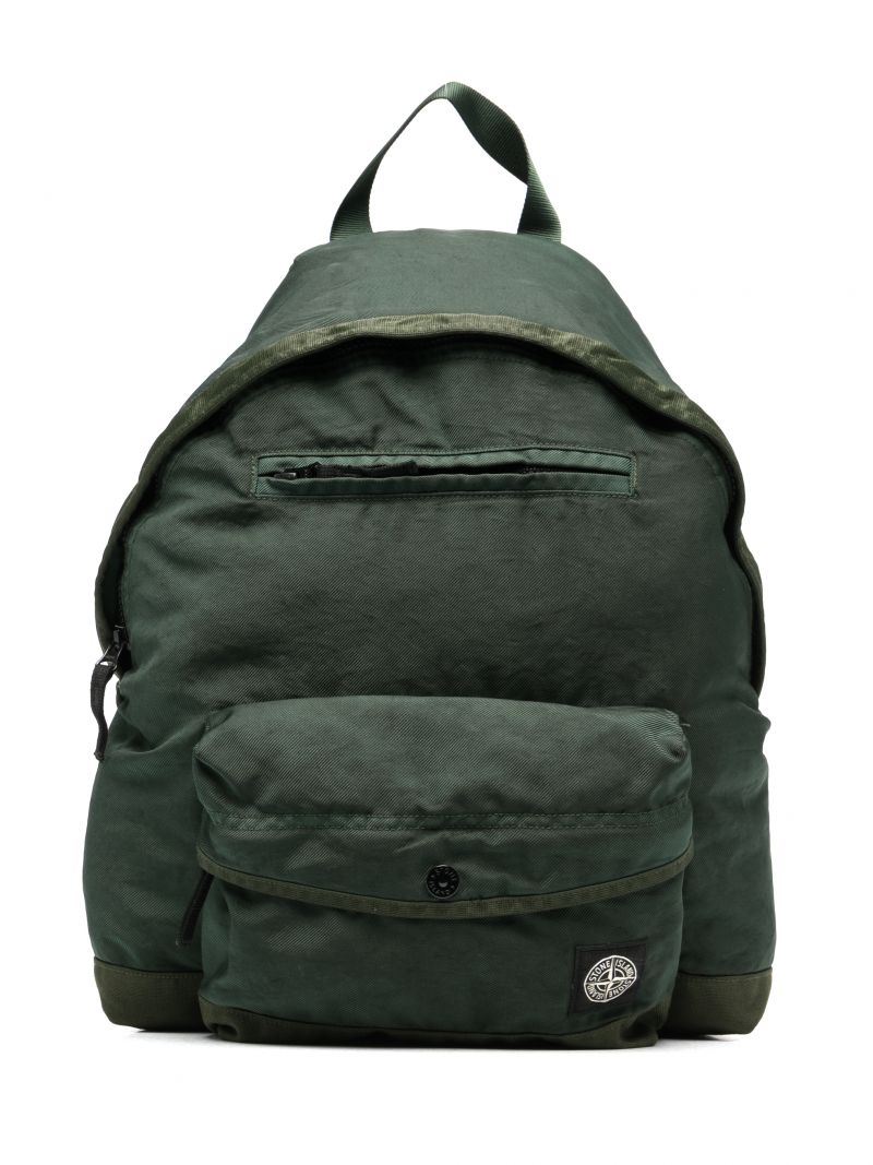 STONE ISLAND JUNIOR: logo patch nylon backpack Color Multicolor_1