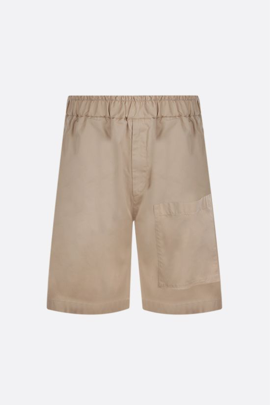 JIL SANDER: cotton gabardine shorts Color Neutral_1