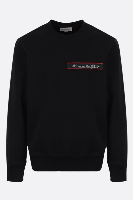 ALEXANDER McQUEEN: logo-detailed cotton sweatshirt Color Black_1