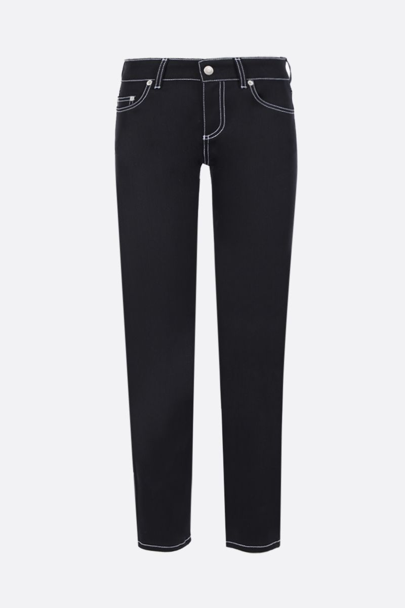 ALEXANDER McQUEEN: slim-fit jeans with contrast topstitching Color Black_1