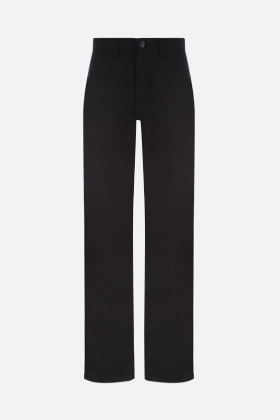 ALEXANDER McQUEEN: McQueen Graffiti straight-leg jeans Color Black_1