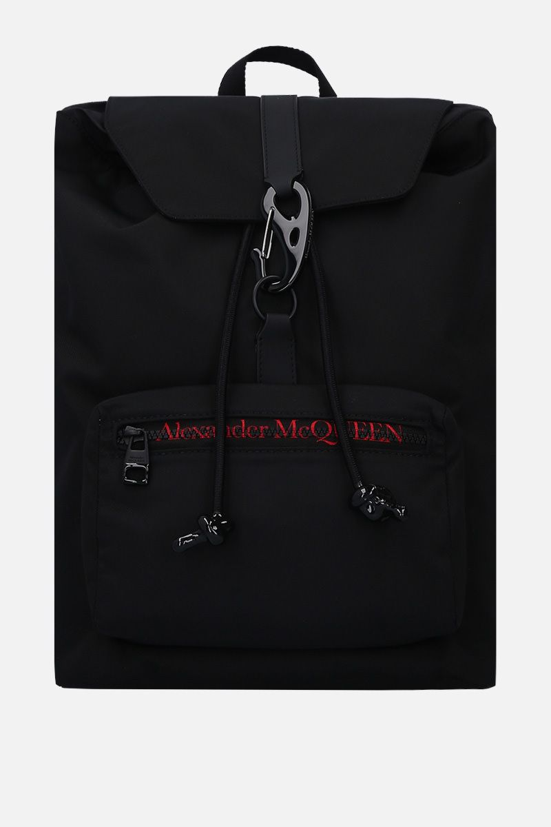 ALEXANDER McQUEEN: Urban backpack in nylon Color Black_1