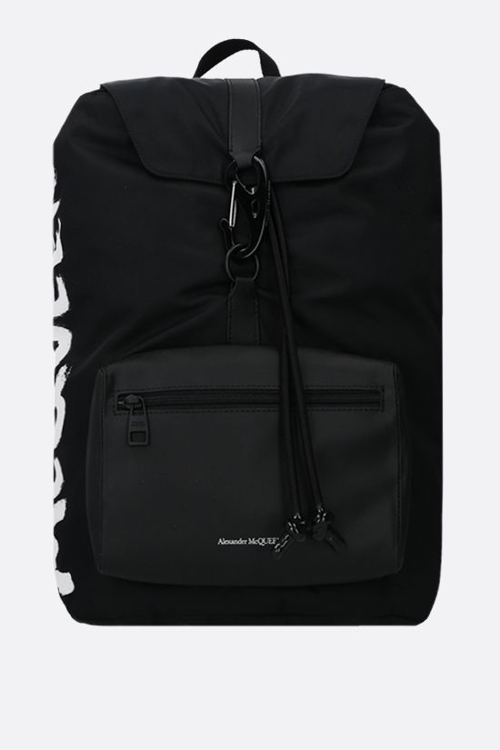 ALEXANDER McQUEEN: Urban nylon backpack Color Black_1