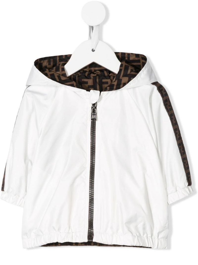 FENDI KIDS: nylon windbreaker Color Neutral_1
