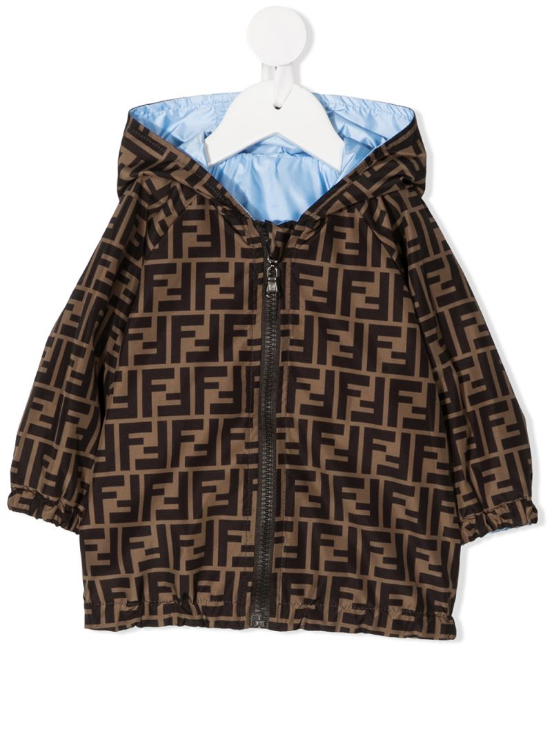 FENDI KIDS: nylon reversible windbreaker_1