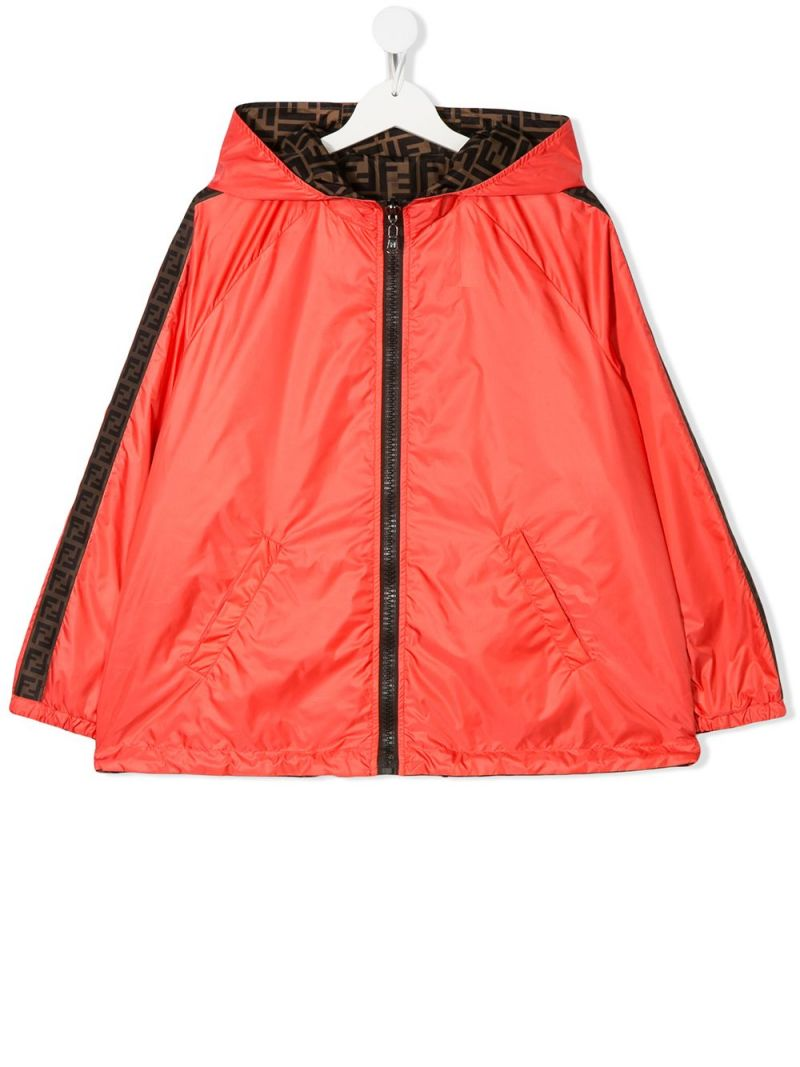 FENDI KIDS: nylon reversible windbreaker Color Multicolor_1