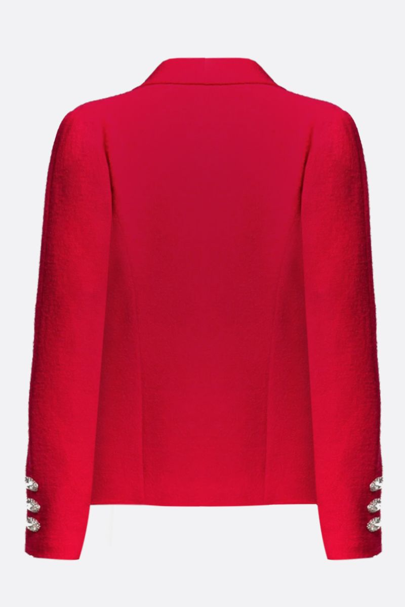 ALESSANDRA RICH: wool blend single-breasted jacket Color Red_2