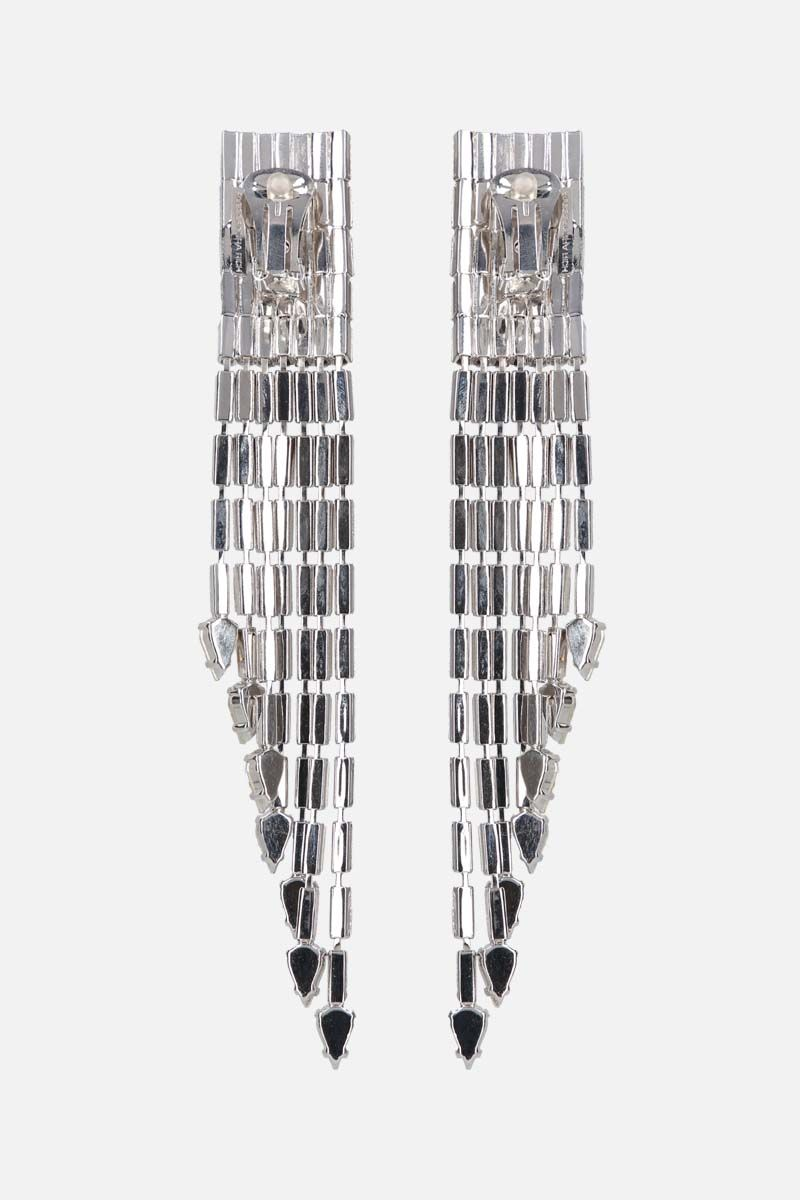 ALESSANDRA RICH: crystal baguette cascade earrings Color Silver_2