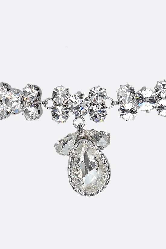 ALESSANDRA RICH: crystal choker with large crystal drop Color Neutral_2