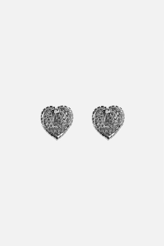 ALESSANDRA RICH: mini crystal heart earrings Color Neutral_2