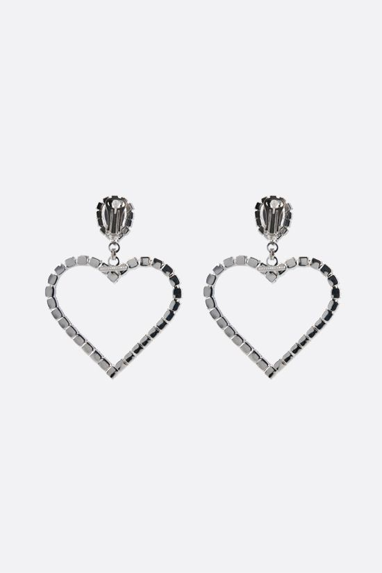 ALESSANDRA RICH: crystal heart earrings Color Neutral_2