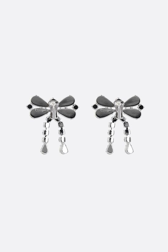 ALESSANDRA RICH: crystal bow earrings Color Neutral_2
