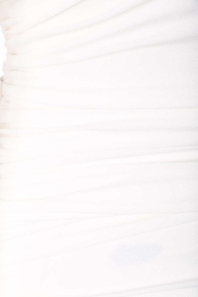 ALEXANDRE VAUTHIER: draped dress in stretch jersey Color White_4