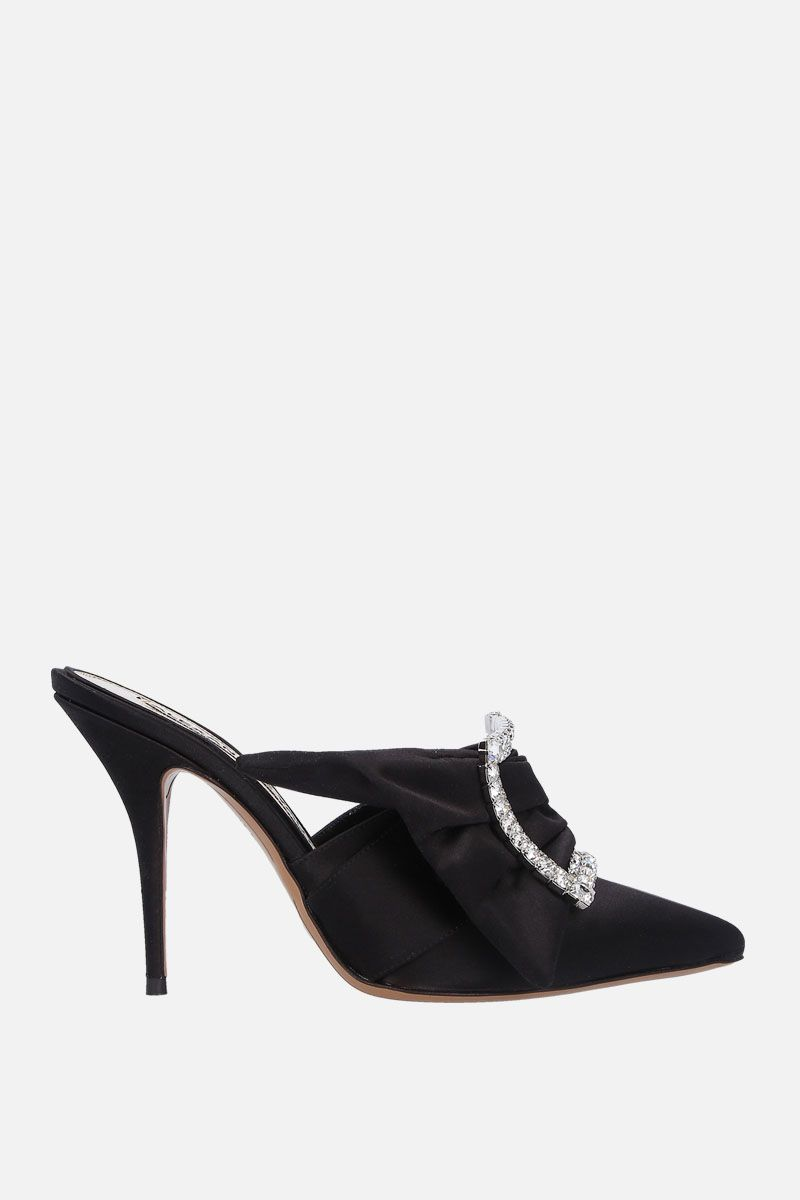 ALEXANDRE VAUTHIER: Lola satin mules Color Black_1