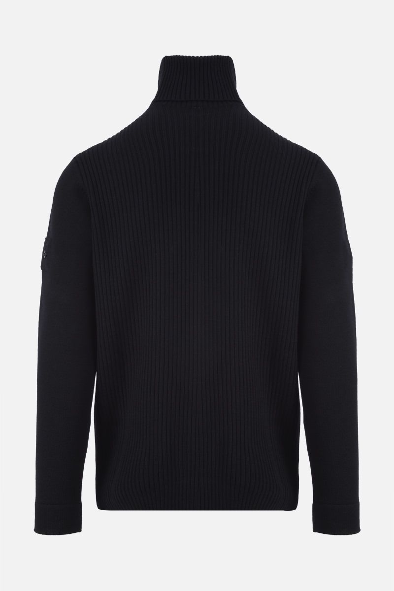 STONE ISLAND SHADOW PROJECT: logo badge-detailed wool pullover Color Black_2