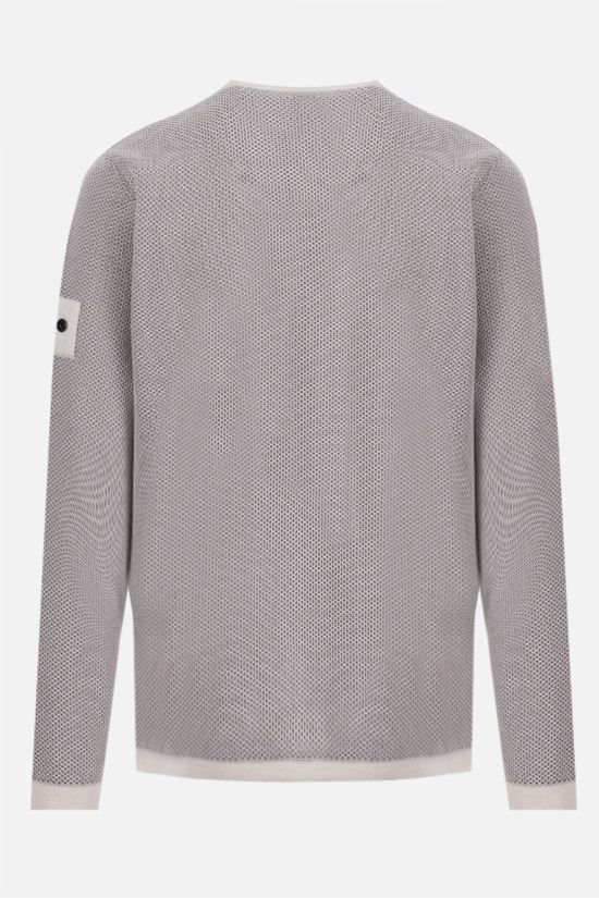 STONE ISLAND SHADOW PROJECT: double layer mesh pullover Color Neutral_2
