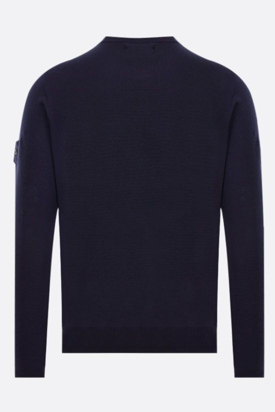 STONE ISLAND SHADOW PROJECT: logo badge-detailed silk cotton blend pullover Color Black_2