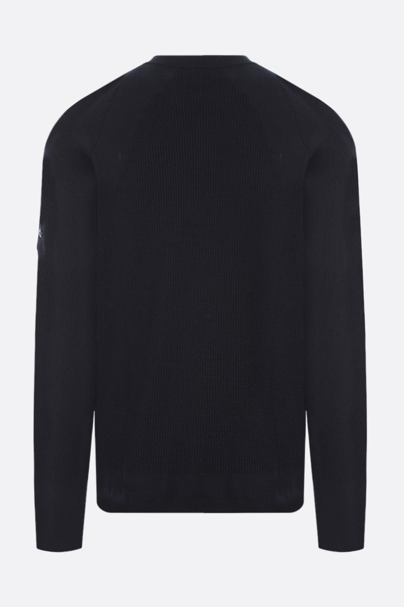 STONE ISLAND SHADOW PROJECT: logo badge-detailed ribbed wool blend pullover Color Black_2