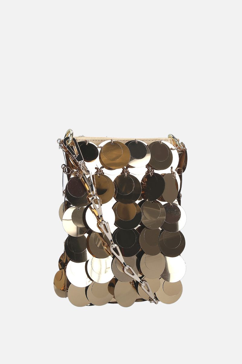 PACO RABANNE: 1969 Sparkle mini sequinned shoulder bag Color Gold_2