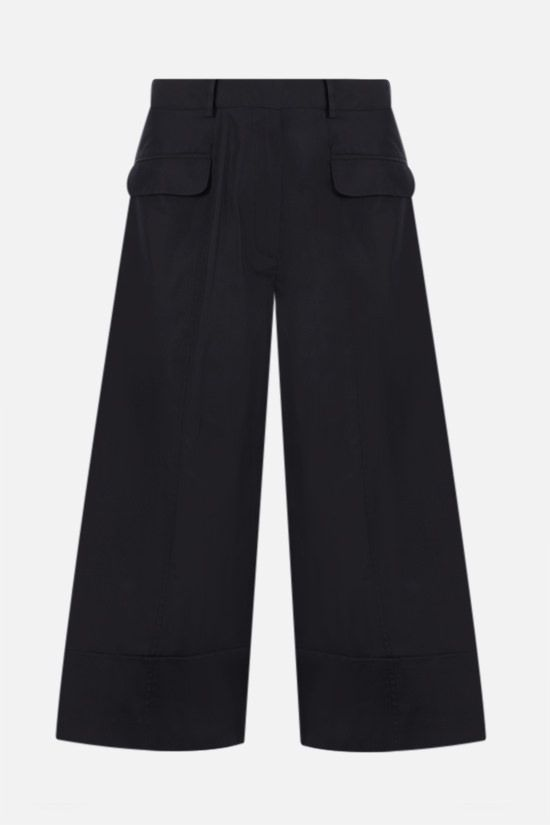 SIMONE ROCHA: cropped cotton wide-leg pants Color Black_1