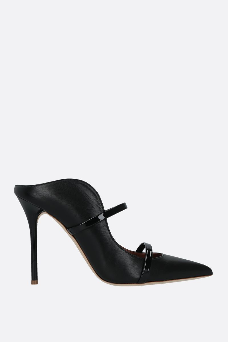 MALONE SOULIERS: Maureen nappa and patent leather mules Color Black_1