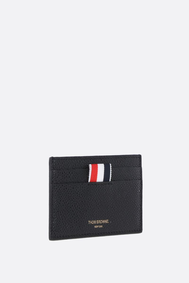 THOM BROWNE: Pebble Grain card case Color Black_2