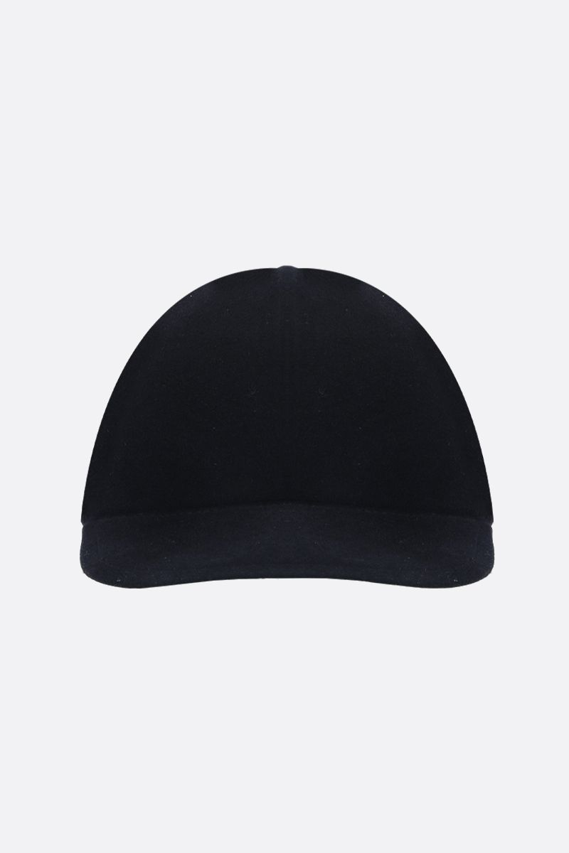ERMENEGILDO ZEGNA: wool felt baseball cap Color Blue_1