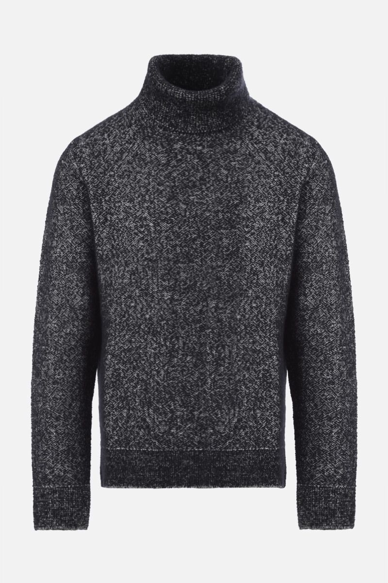 ERMENEGILDO ZEGNA: wool cashmere silk blend pullover Color Black_1