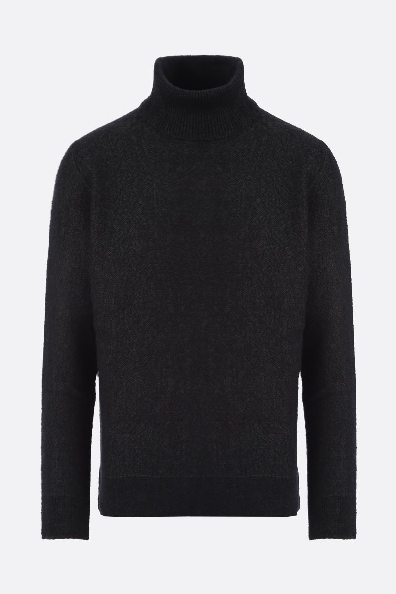 ERMENEGILDO ZEGNA: wool cashmere silk blend pullover Color Green_1