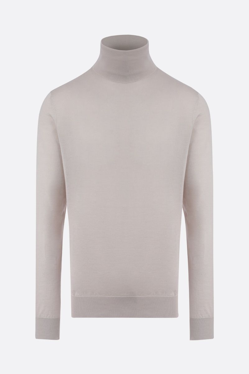 ERMENEGILDO ZEGNA: cashmere silk blend turtleneck Color Neutral_1