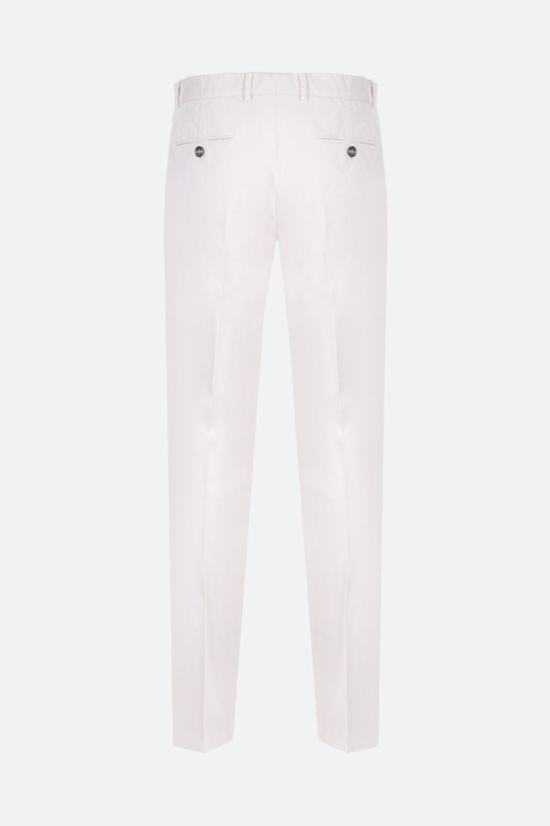 BRUNELLO CUCINELLI: regular-fit chino pants in cotton Color White_2