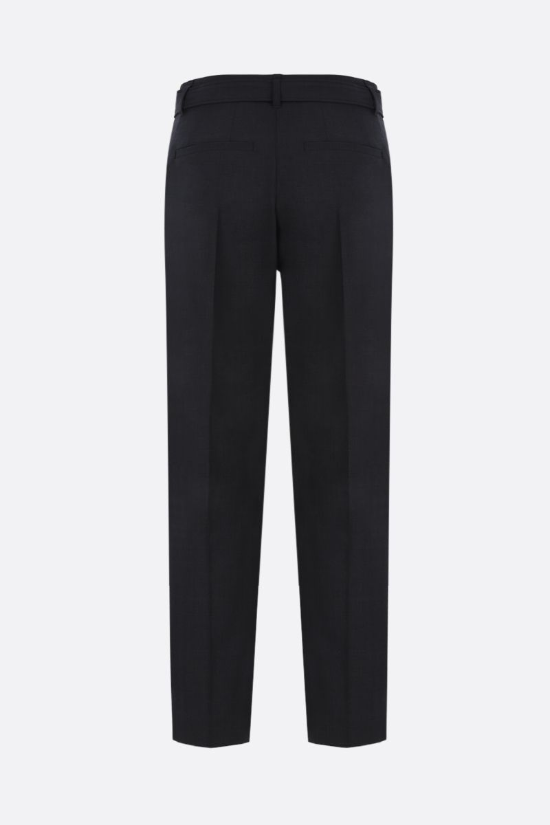 BRUNELLO CUCINELLI: belt-detailed wool blend pants Color Black_2