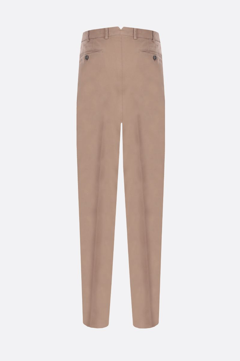 BRUNELLO CUCINELLI: stretch cotton Italian-fit pants Color Brown_2