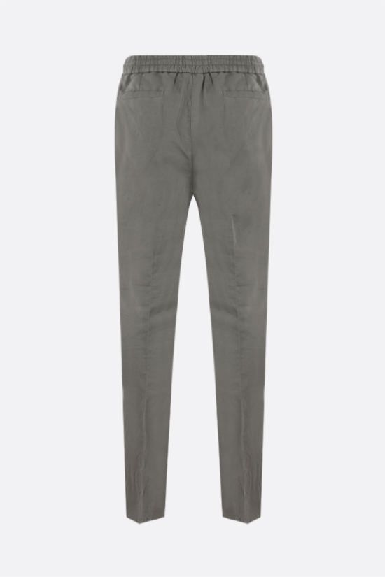 BRUNELLO CUCINELLI: linen cotton blend darted pants Color Brown_2
