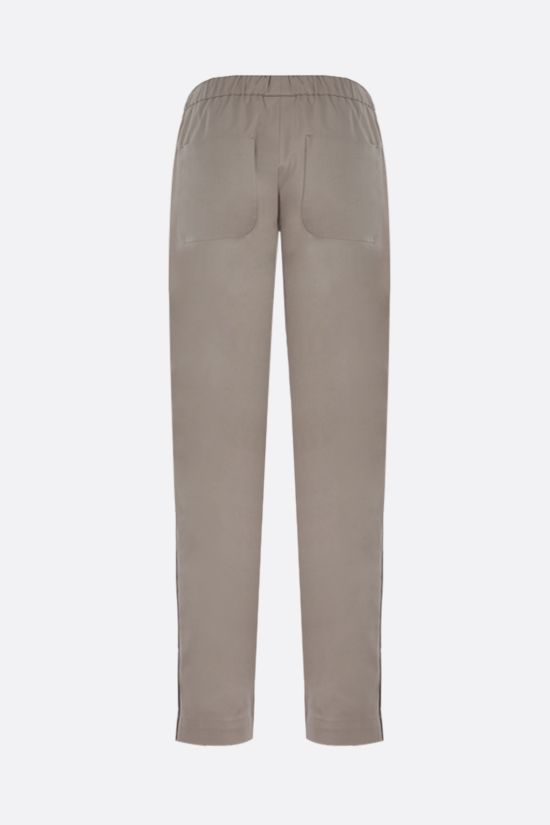 BRUNELLO CUCINELLI: monili-detailed stretch cotton joggers Color Neutral_2