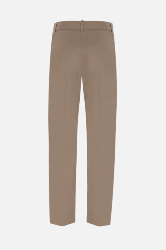 BRUNELLO CUCINELLI: belt-detailed stretch cotton pants Color Neutral_2