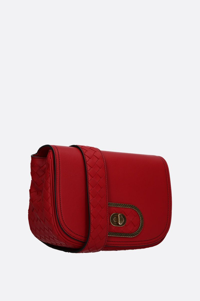 BOTTEGA VENETA: BV Luna crossbody bag in smooth nappa Color Red_2